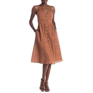 Nordstrom - No. One. Cares. brown plaid midi dress